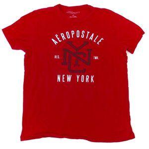 Aeropostale Men's Red New York City T-Shirt L